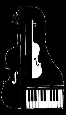 Violinist clipart piano