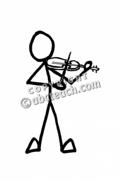 Violin clipart stick