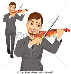 Violinist clipart male