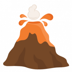 Drawn volcano transparent