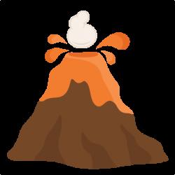 Drawn volcano transparent