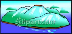 Volcano clipart extinct