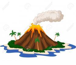 Volcano clipart landform
