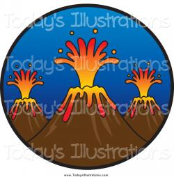 Volcano clipart natural hazard