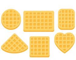 Heart-shaped clipart waffle