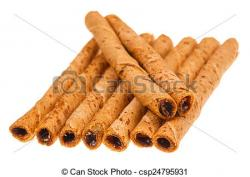 Wafer clipart rolled