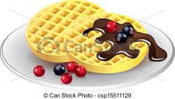 Waffle clipart belgium
