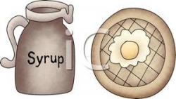 Waffle clipart syrup