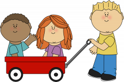 Cart clipart kid wagon
