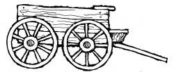 Pioneer clipart wooden cart