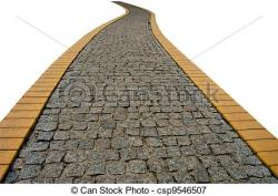 Pathway clipart stone path