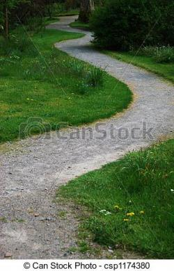 Walkway clipart winding path