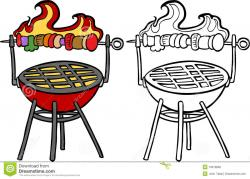 Kebab clipart black and white