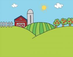 Feilds clipart barn