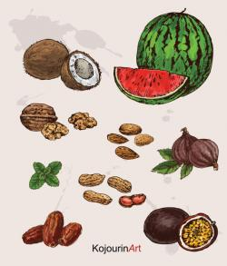 Walnut clipart almond