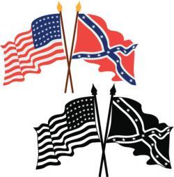 Civil War clipart us flag