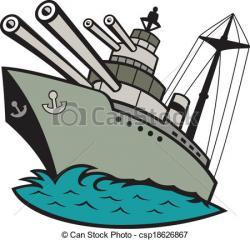 Battleship clipart cartoon