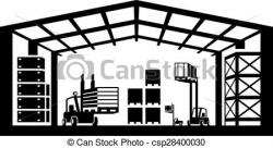 Warehouse clipart black and white