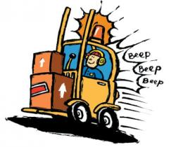 Warehouse clipart forklift safety