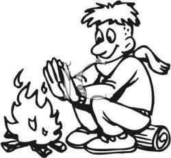 Drawn campfire