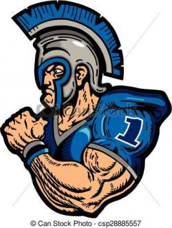 Warrior clipart muscular