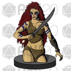 Woman Warrior clipart digital