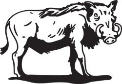 Warthog clipart animal