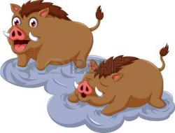 Warthog clipart cartoon