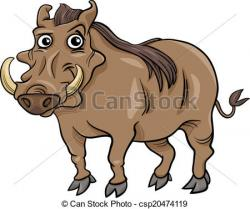 Warthog clipart cute