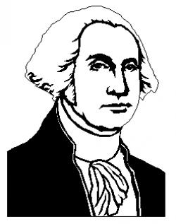 Portrait clipart george washington
