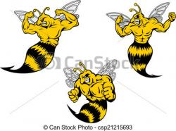 Wasp clipart angry hornet