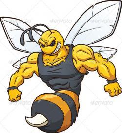 Hornet clipart muscular