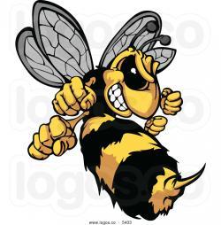 Hornet clipart vector