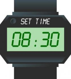Watch clipart digital watch