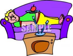 Watch clipart lazy kid
