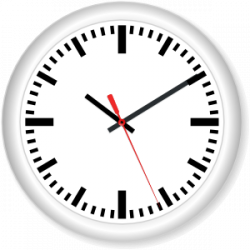 Watch clipart round clock