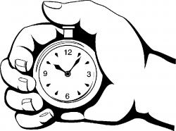 Hand clipart stopwatch