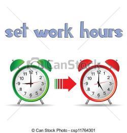 Watch clipart work hour