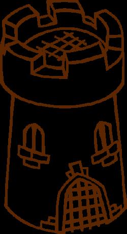 Watchtower clipart castle turret