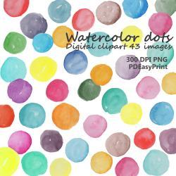 Dots clipart watercolour