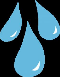 Drawn raindrops teardrops falling