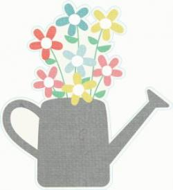 Watering Can clipart april flower