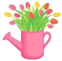 Watering Can clipart flower