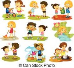 Child clipart household chore