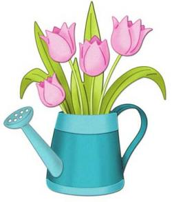 Watering Can clipart tulip
