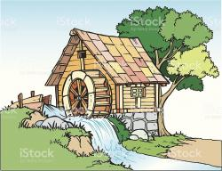 Watermill clipart