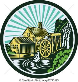 Mill clipart watermill