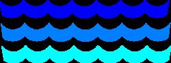 Lines clipart ocean wave