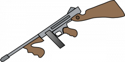 Drawn shotgun clipart