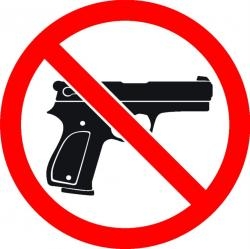 Weapon clipart allowed sign